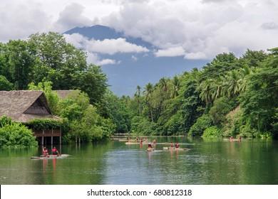 July 15,2017 ride on raft at the river in villa escudero, Laguna , Philippines