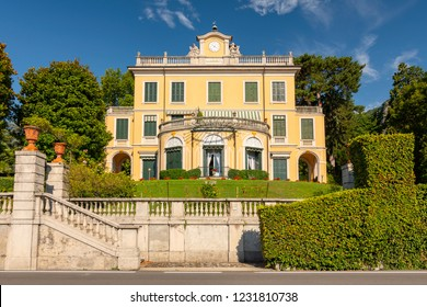 July 17, 2018. Villa Margherita Grande dates back to the 1750s and is in fact where the famous Italian composer Giuseppe Verdi stayed and composed La Traviata, Griante, Como Lake Italy.