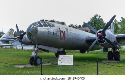 July 18, 2018, Moscow region, Russia. Soviet strategic bomber Tupolev Tu-4 at the Central Museum of the Russian Air Force in Monino.