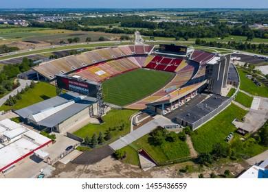 July 18, 2019 - Ames, Iowa, USA: Aerial Views of Jack Trice Stadium in Ames, Iowa, United States.