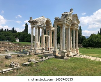 July 18, 2019 - Aphrodisias was a small ancient Greek Hellenistic city in the historic Caria cultural History of Aphrodisias, birth place of the goddess of love. Aydın/Turkey - Shutterstock ID 1456943333