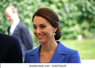 JULY 19, 2017 - BERLIN: Kate, Duchess of Cambridge - meeting of the German Chancellor with the British Royal couple, Chanclery, Berlin.
