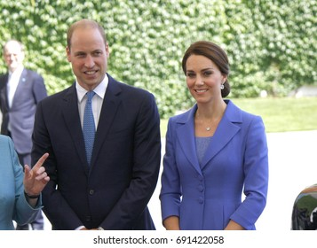 JULY 19, 2017 - BERLIN: Prince William with Kate - meeting of the German Chancellor with the British Royal couple, Chanclery, Berlin.
