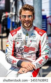 July 19, 2019 - Newton, Iowa, USA: MARCO Andretti (98) of the United States  prepares to qualify for the Iowa 300 at Iowa Speedway in Newton, Iowa.