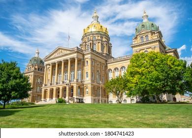 July 19, 2020 - Des Moines, Iowa, USA: The Iowa State Capitol is the state capitol building of the U.S. state of Iowa.