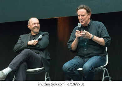 July 1st 2017. Stuttgart, Germany. Beverly Hills Cop panel with John Ashton and Judge Reinhold at Comic Con.