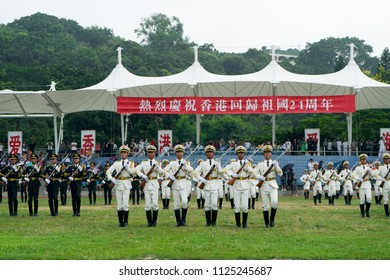 JULY 1st, 2018 - HONG KONG: The PLA Ngong Shuen Chau Naval Base at Stonecutters Island opens to the public in celebration of the return of Hong Kong to China for its 21st  anniversary.