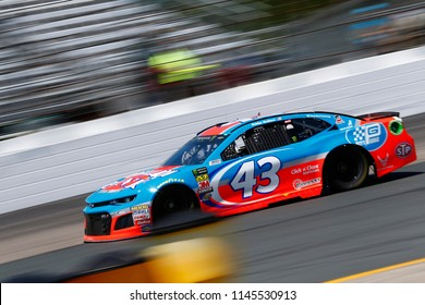 July 20, 2018 - Loudon, New Hampshire, USA: Darrell Wallace, Jr (43) takes to the track to practice for the Foxwoods Resort Casino 301 at New Hampshire Motor Speedway in Loudon, New Hampshire.