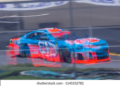July 20, 2018 - Loudon, New Hampshire, USA: Darrell Wallace, Jr (43) practices for the Foxwoods Resort Casino 301 at New Hampshire Motor Speedway in Loudon, New Hampshire.