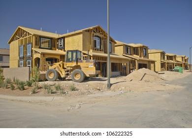 JULY 2004 - Desert construction of new homes in Clark County, Las Vegas, NV