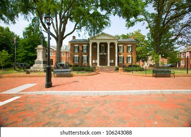 JULY 2005 - Historic district of  Charlottesville, Virginia, home of President Thomas Jefferson