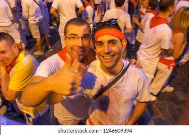 July 2011, San Fermin festival in Pamplona, Basque country Spain.