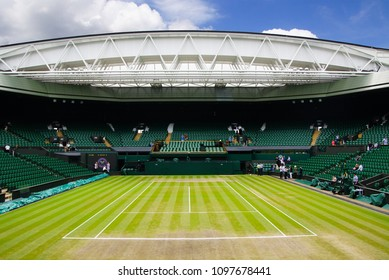 JULY 2013 - LONDON, UK: The stadium of Wimbledon tennis centre court in London, UK.