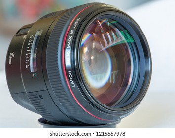 July 2014: Canon EF 85mm Luxury lens close up.