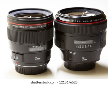 July 2014: Canon Luxury lenses 35mm and 85mm.