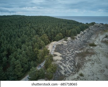 July 2017. Aerial view of Curonian Spit