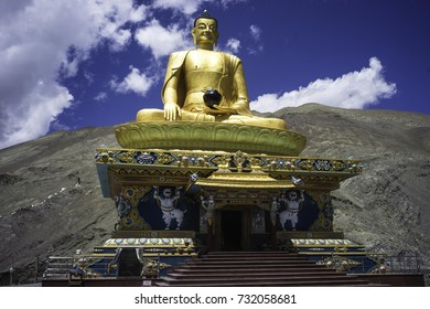 July 2017 , Stok near Leh, Ladakh , 100 feet tall sitting Buddha