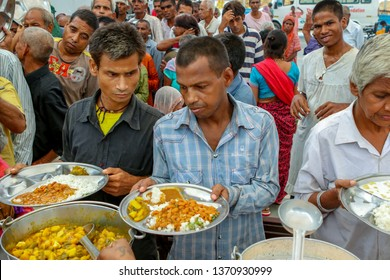 July 2018 , Gurgaon, Haryana, India - A community kitchen that feeds hundreds of people everyday, who can not afford their food.