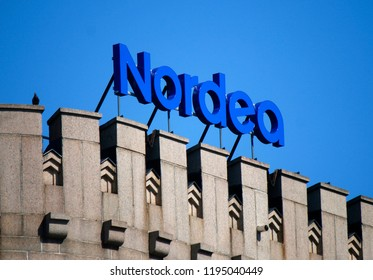 "JULY 2018 - HELSINKI: the logo of the brand ""Nordea""."