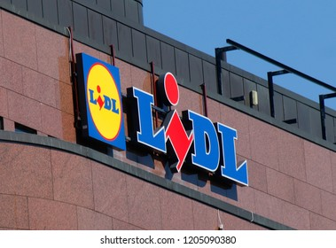 "JULY 2018 - HELSINKI: the logo of the brand ""Lidl""."