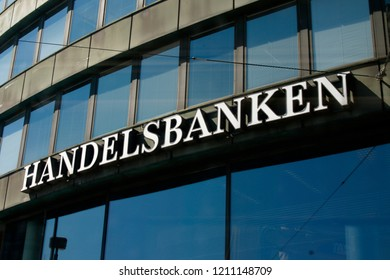 "JULY 2018 - HELSINKI: the logo of the brand ""Handelsbanken""."