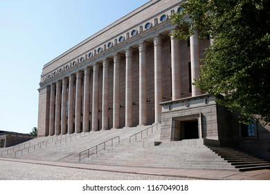 JULY 2018 - HELSINKI: the Parliament  of Finland (Eduskuntatalo), Helsinki