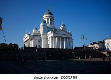 JULY 2018 - HELSINKI: the skyline of Helsinki with the Cathedral, Helsinki, Finland.