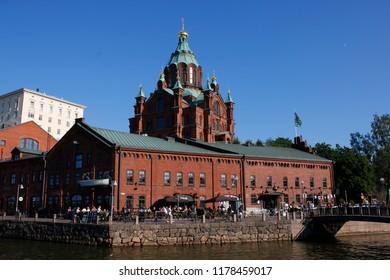JULY 2018 - HELSINKI: Uspenski Cathedral, Helsinki.