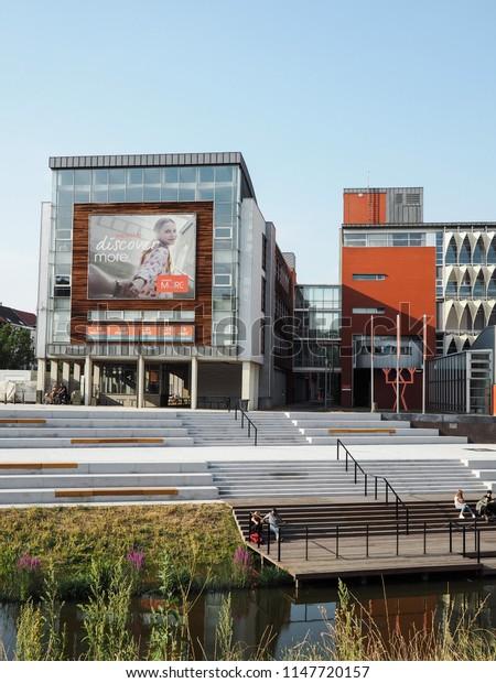 July 2018 - Mechelen, Belgium: Campus of the Thomas More University College in Mechelen