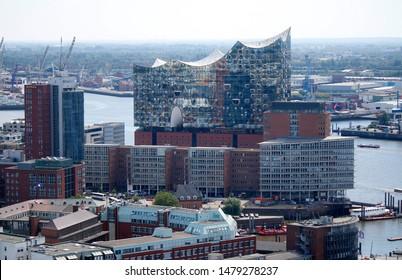 JULY 2019 - HAMBURG: the Elbphilharmonie opera house in Hamburg.
