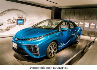 July 2019. New japanese car Toyota Mirai in Toyota museum. Nagoya. Japan.