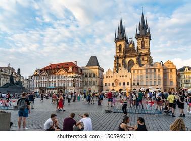 JULY 2019: Our Lady before Tyn Prague in Czech Republic.