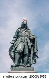 July 2021, Statue Michiel de Ruyter located in Vlissingen in the Netherlands
