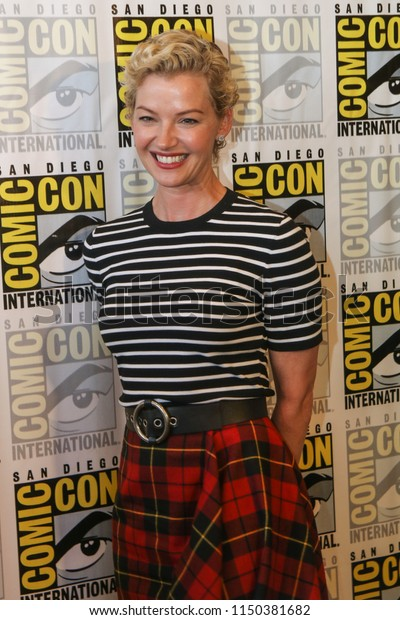 July 21, 2018: Gretchen Mol of SyFy's Nightflyers arrives at Comic Con 2018 in San Diego, CA.