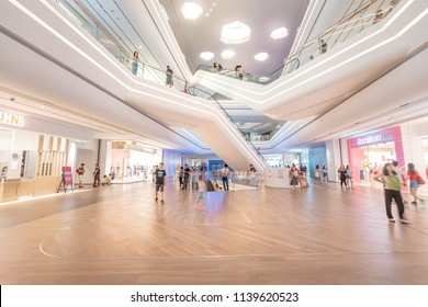 July 21, 2018 - Inside view of  Upperhills shopping mall , A new shopping mall open at 2018 in Shenzhen, China