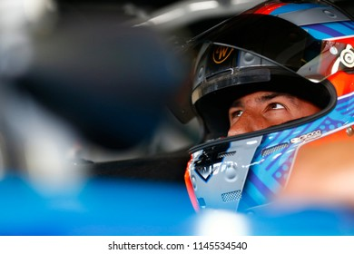 July 21, 2018 - Loudon, New Hampshire, USA: Darrell Wallace, Jr (43) prepares to take to the track for final practice for the Foxwoods Resort Casino 301 at New Hampshire Motor Speedway