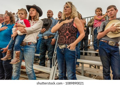 JULY 22, 2017 NORWOOD COLORADO - San Miguel Basin Rodeo attendees, San Miguel County Fairgrounds