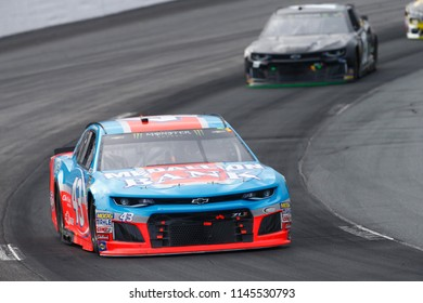 July 22, 2018 - Loudon, New Hampshire, USA: Darrell Wallace, Jr (43) battles for position during the Foxwoods Resort Casino 301 at New Hampshire Motor Speedway in Loudon, New Hampshire.