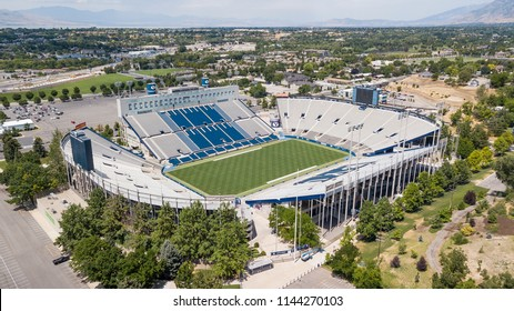 July 22, 2018 - Provo, Utah, USA: LaVell Edwards Stadium is an outdoor athletic stadium in Provo, Utah, on the campus of Brigham Young University (BYU) and is home field of the BYU Cougars.