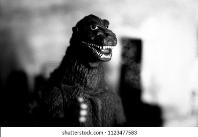 JULY 22 2018: Recreation of the original 1954 Gojira / Godzilla film in grainy black and white