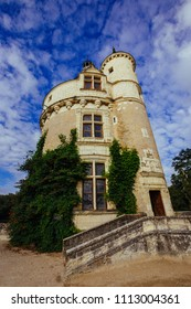 July 23, 2017 the castle of Chenonceau. France. The facade of the medieval castle of ladies. The royal medieval castle of Chenonceau Castle and the garden. Chenonceau, the Loire Valley, France, Europe