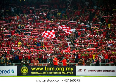 July 24, 2015- Shah Alam, Malaysia: Fans and supporters show their support for the visiting Liverpool team in their friendly match against Malaysia. Liverpool Football Club from UK is on an Asia tour.