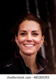 July 24 2016 Portsmouth, UK,  The Duchess of Cambridge arrives in Portsmouth for the Americas Cup World Series event.