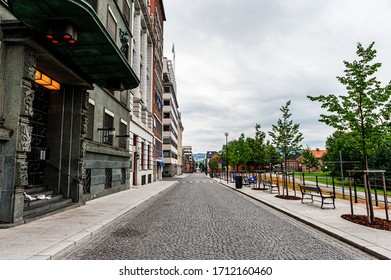 July 26, 2013. View of the Central streets of Oslo . Area of the center of Oslo. Editorial