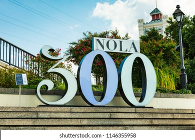 "July 26. 2018. New Orleans, Louisiana celebrates it 300 year anniversary, ""300"" Sign. New Orleans, Louisiana, USA"