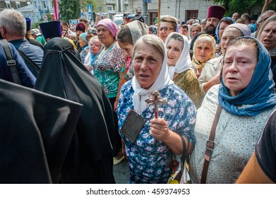 July 27, 2016. Kyiv, Ukraine. Ukrainian Orthodox Church (Moscow Patriarchate) procession for peace in Kyiv.