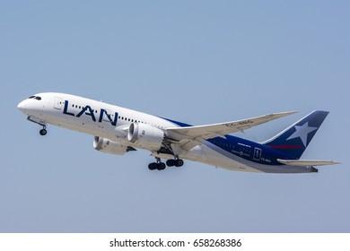 July 27, 2016. Los Angeles International Airport (LAX). LAN Airlines, Boeing 787-8 Dreamliner