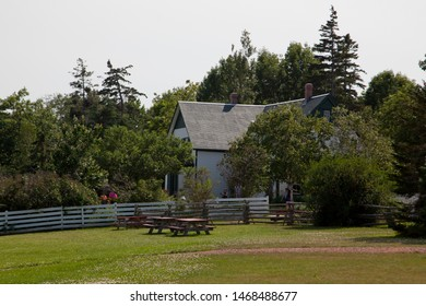 July 27, 2019- Cavendish, PEI: Tourists walking in front of the famed Green Gables House