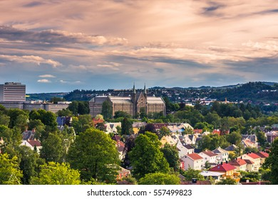 July 28, 2015: Panorama of the University of Trondheim, Norway