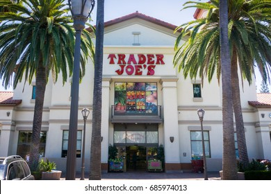 July 28, 2017 Sunnyvale/CA/USA - Entrance to one of the Traders Joe's supermarkets located in Silicon Valley